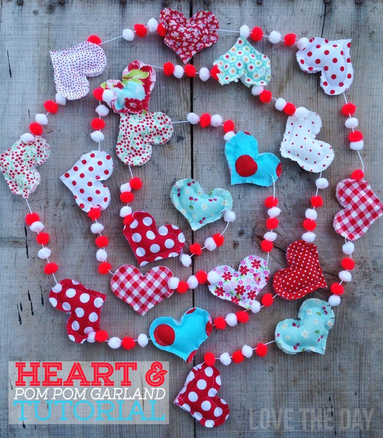 Heart & Pom Pom Garland Tutorial by Love The Day