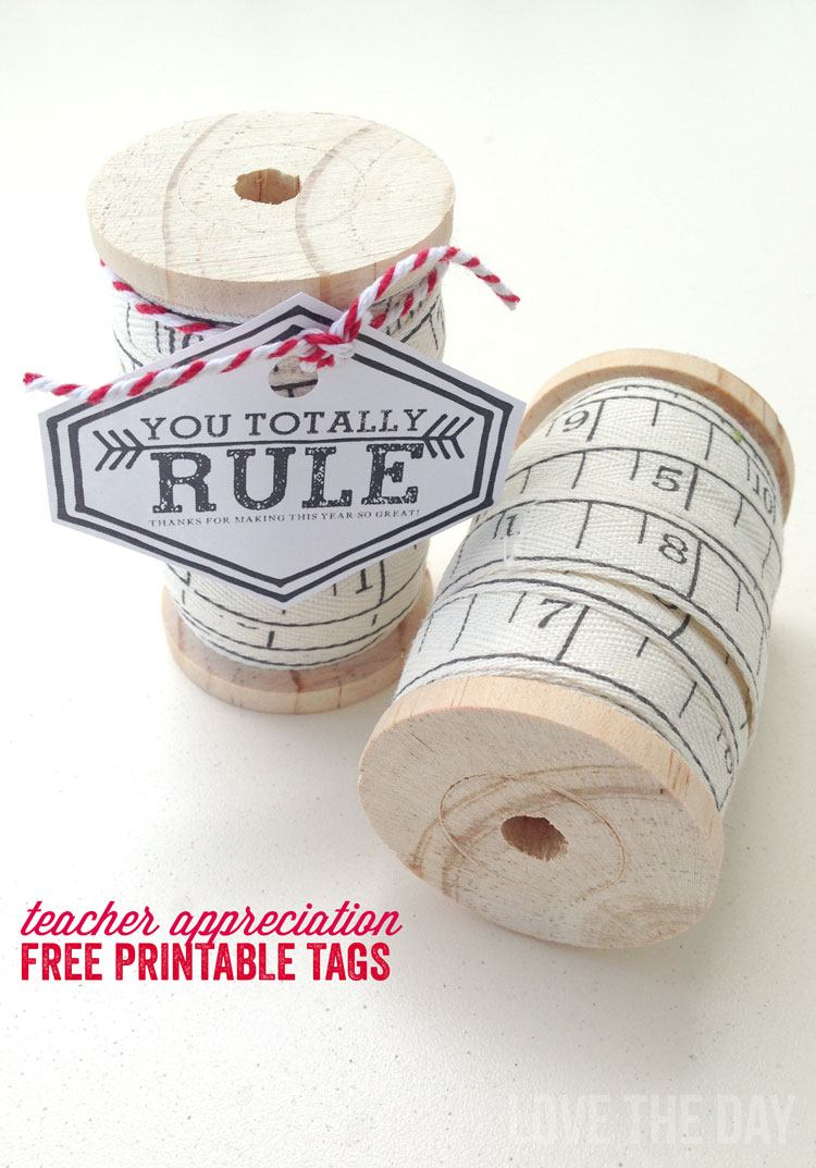 Teacher Appreciation Printable:: Free Tags by Love The Day