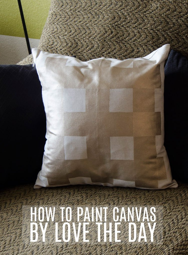 How To Stencil on Canvas by Love The Day