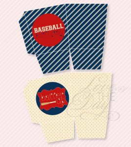 Baseball Party Printables:: Favor Boxes by Love The Day