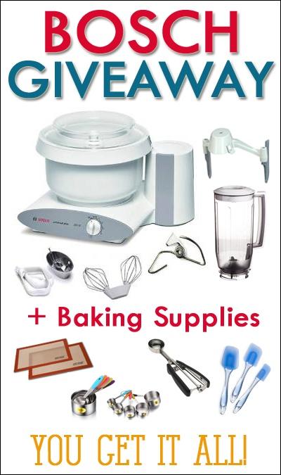 Bosch Mixer + Baking Supplies Giveaway