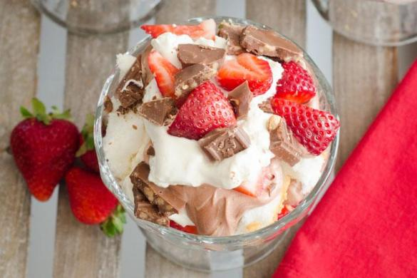 Strawberry & Chocolate Mousse Recipe by Love The Day