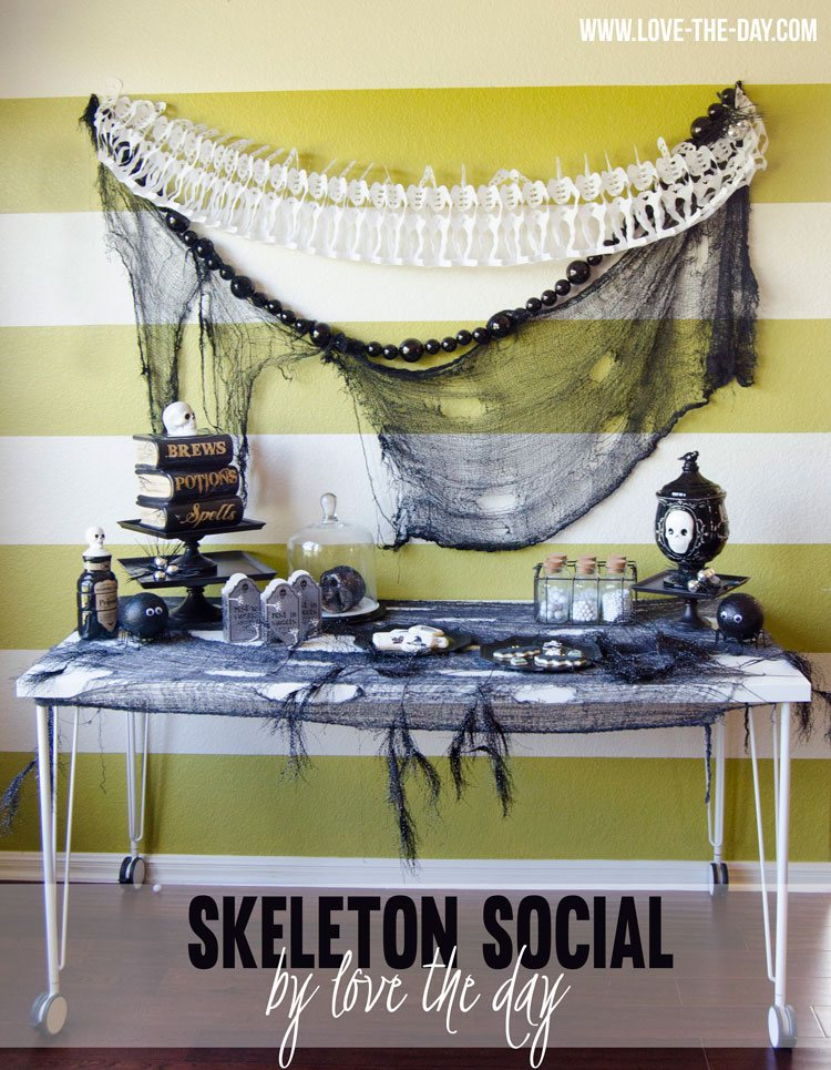 Skeleton Social, A Halloween Party with World Market by Love The Day