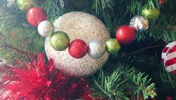 diy christmas decorations whimsical glittered ball garlands - Michaels Christmas Garland