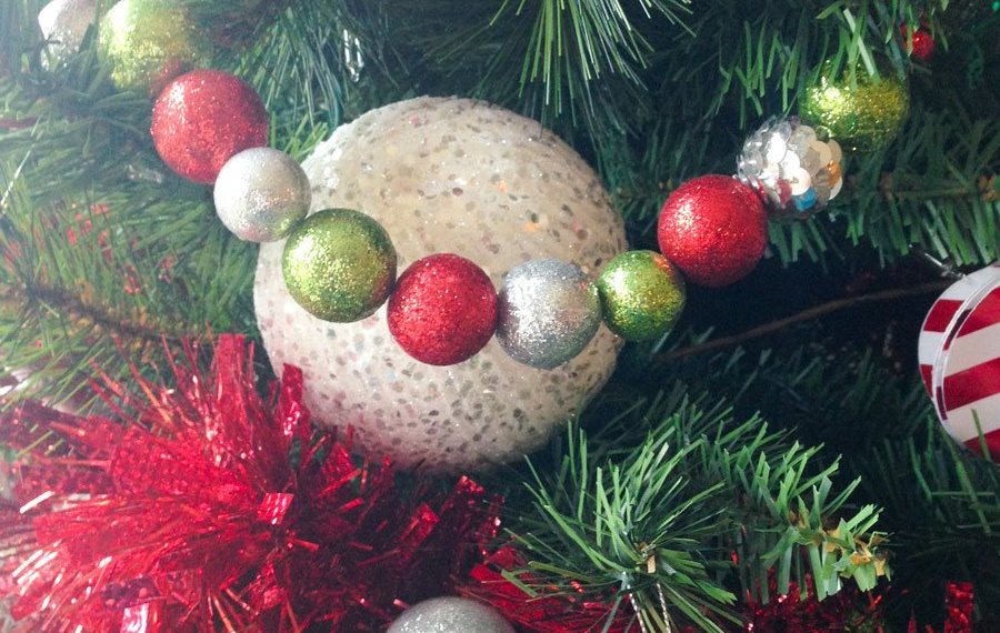 DIY Whimsical Glittered Ball Garlands Idea by Lindi Haws