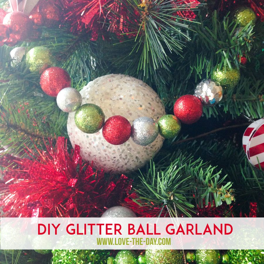 Whimsical Christmas Trees Ideas: DIY Christmas Decorations:: Whimsical Glittered Ball Garlands