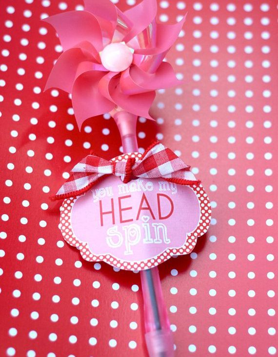 'You Make My Head Spin' Valentine PRINTABLE by Love The Day