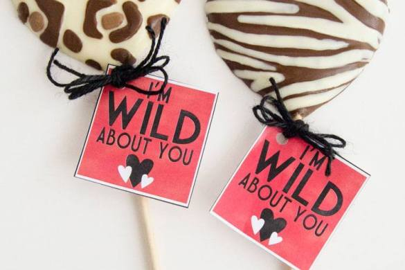 Wild About You Valentine Idea & Printable by Love The Day