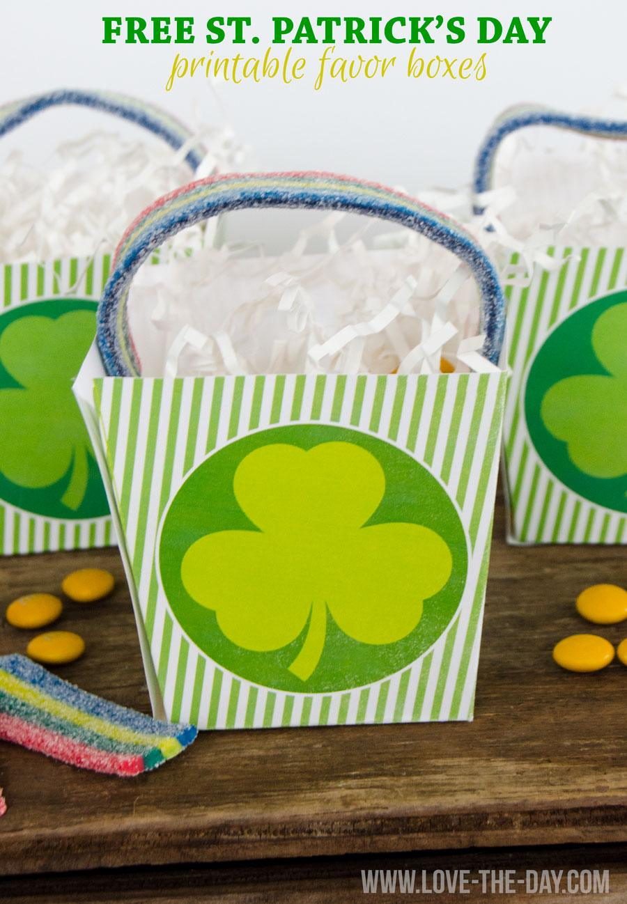 FREE St. Patrick's Day PRINTBLES:: Favor Boxes by Love The Day