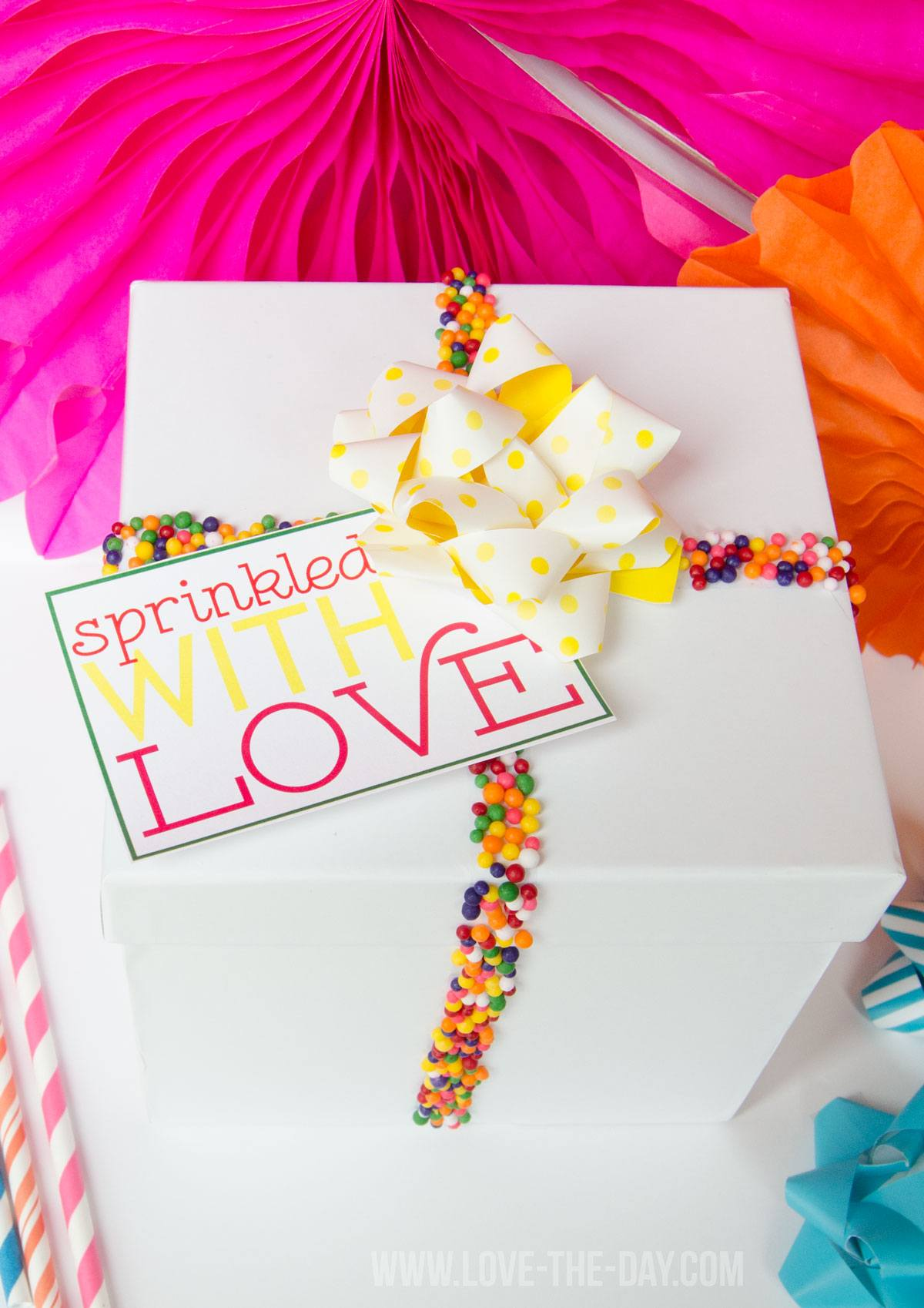 Decorate Presents with Sprinkles|Tutorial by Love They Day