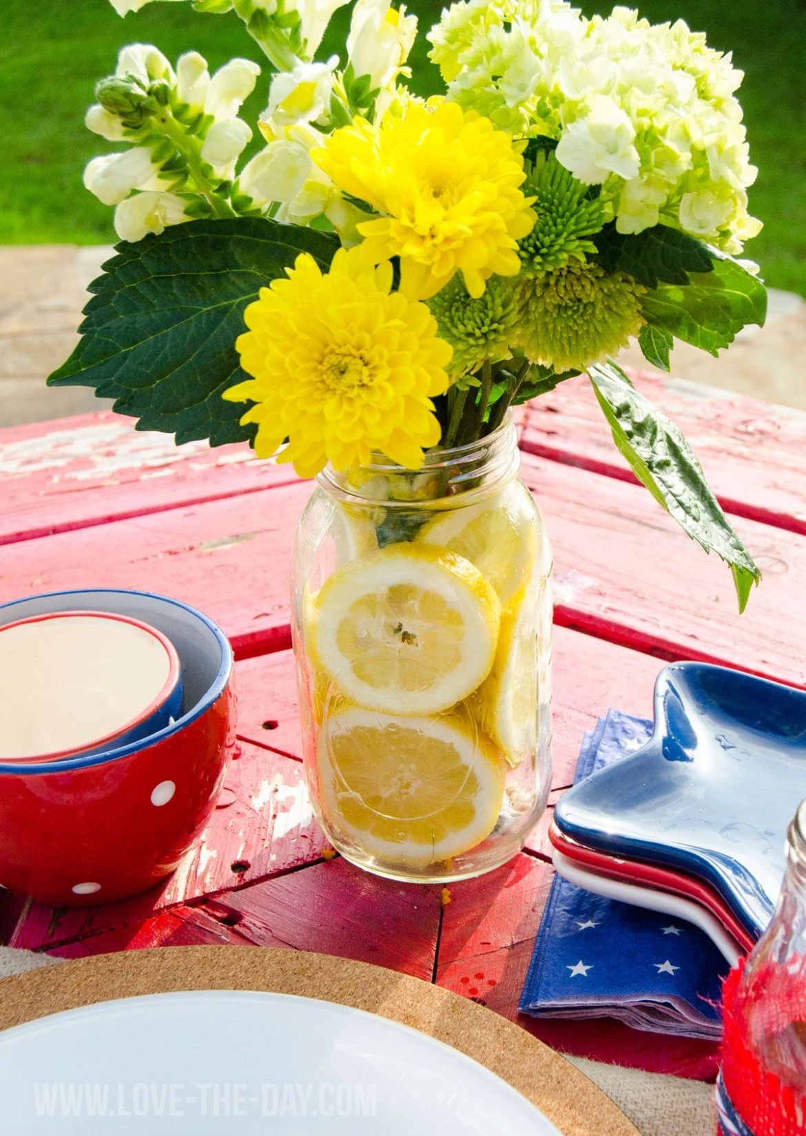 DIY Lemon Centerpiece by Love The Day