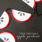 FREE Printable Apple Banner by Love The Day
