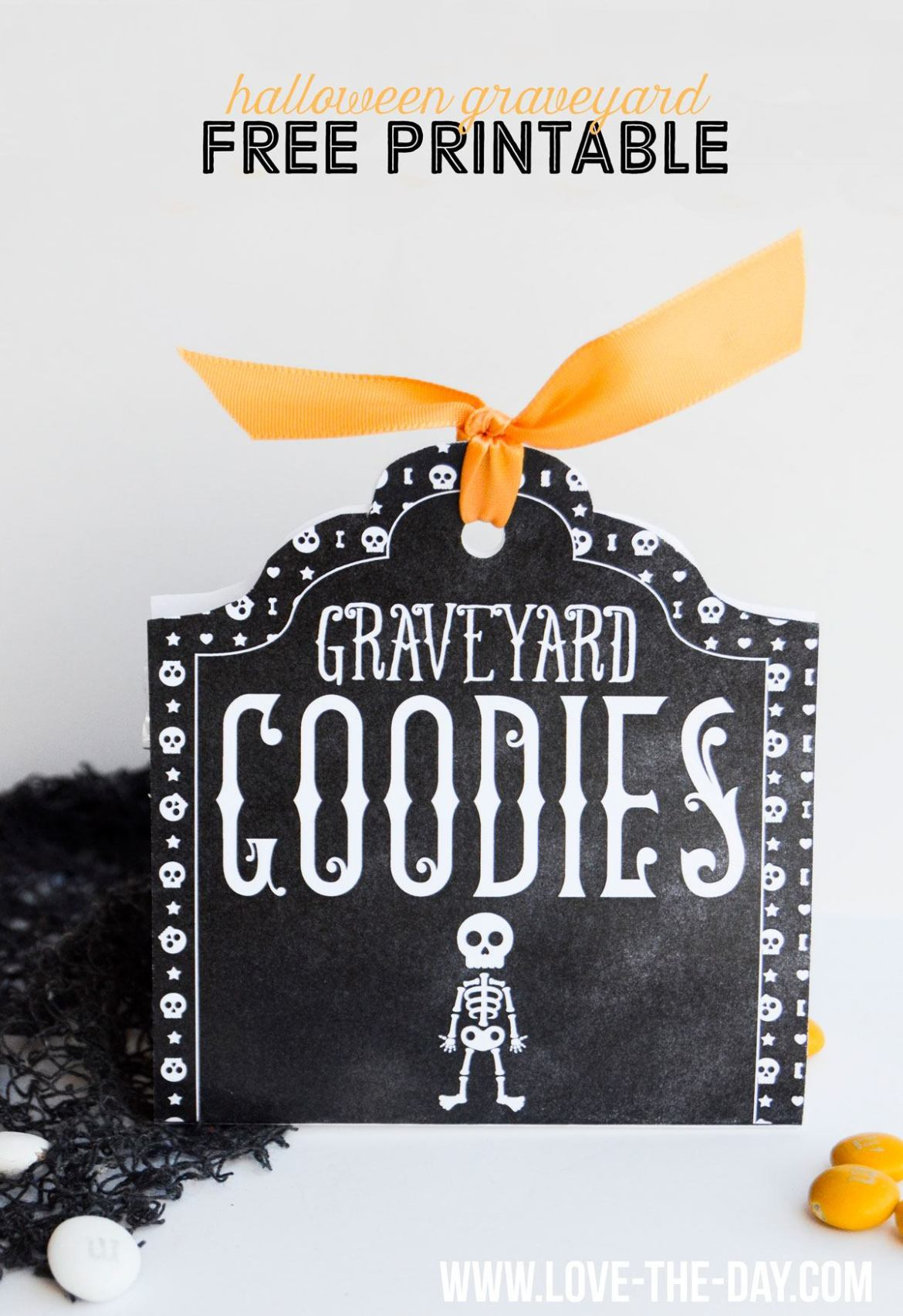 FREE Printable Tags: Graveyard Goodies by Love The Day