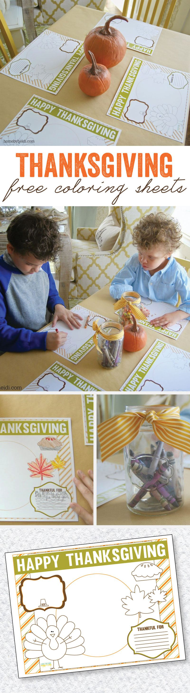 Thanksgiving Coloring Sheets by Lindi Haws of Love The Day
