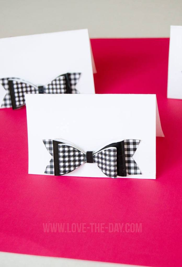 Paper Bow Tent Card Tutorial & Free Printable