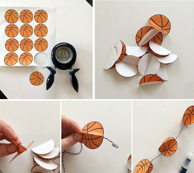 Basketball Garland Tutorial by Lindi Haws of Love The Day