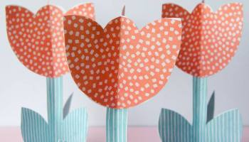 how to make paper flowers free printable tutorial