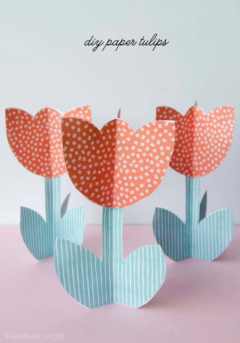 DIY Paper Tulip Template & Tutorial by Lindi Haws of Love The Day