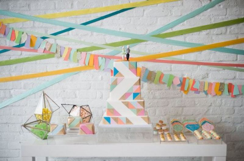 DIY Geometric Backdrop Ideas on Love The Day