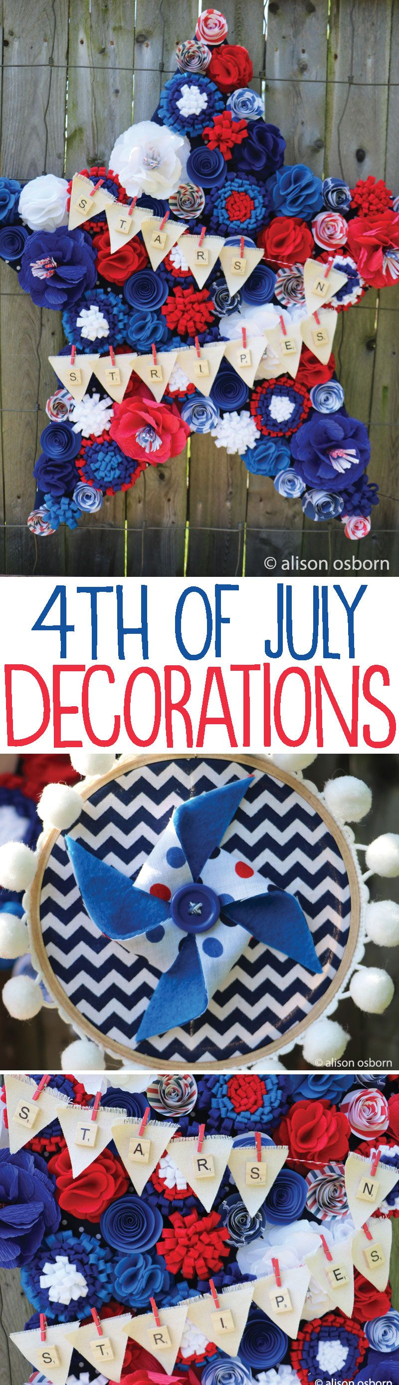 Diy 4th of july decorations on love the day for 4 of july decorations