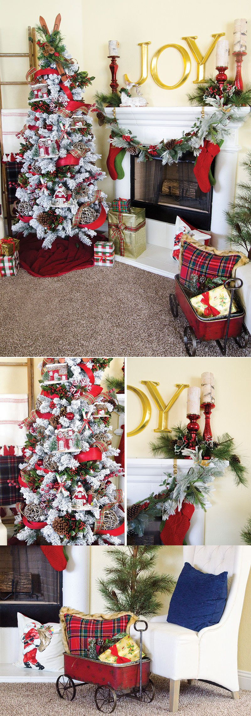 Plaid Christmas Tree by Lindi Haws of Love The Day | Michaels Dream Tree Challenge