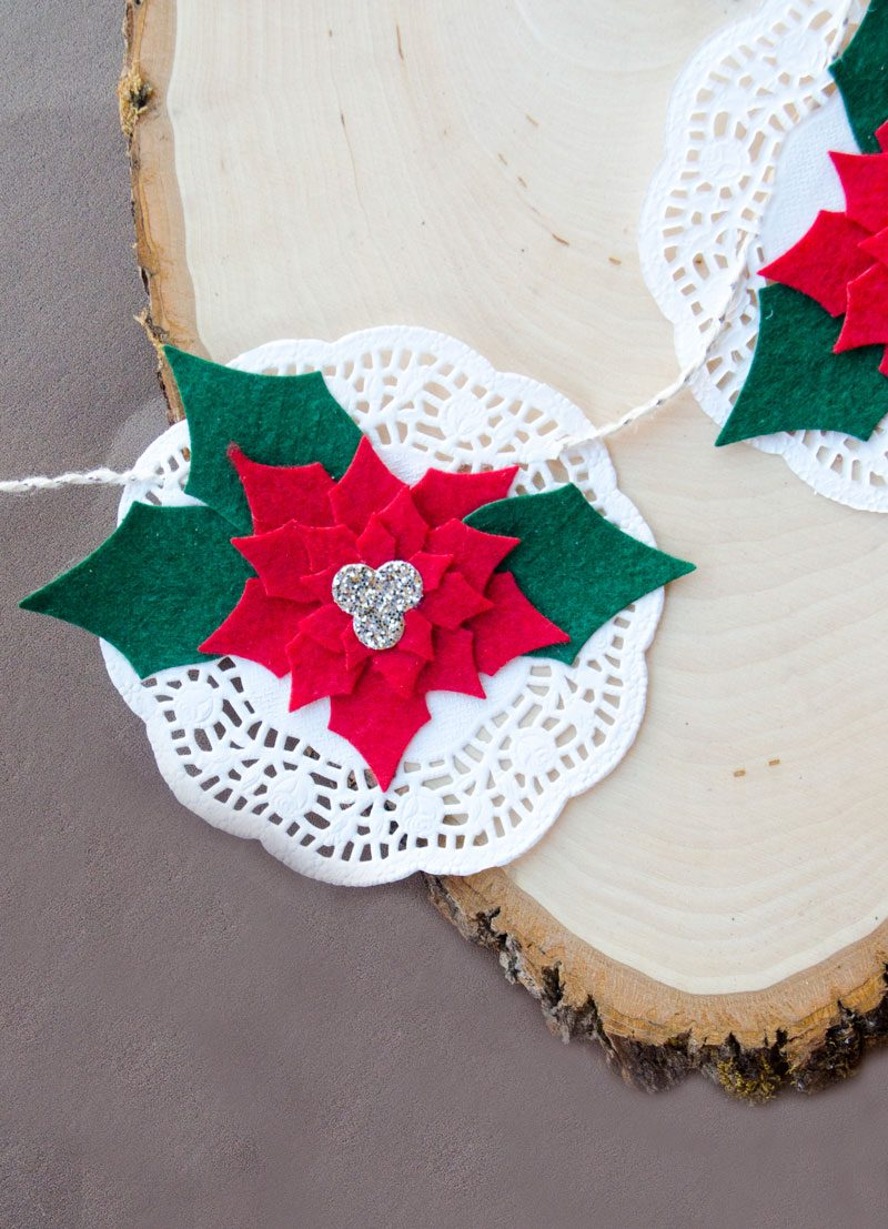 Poinsettia Felt Christmas Garland by Lindi Haws of Love The Day