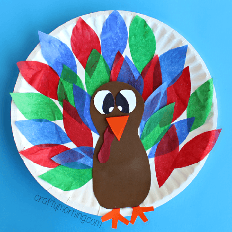 12 Turkey Crafts for Thanksgiving on Love The Day