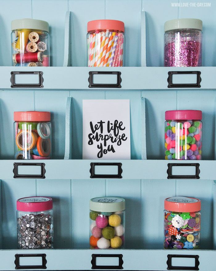 Craft Room Storage Ideas by Lindi Haws of Love The Day