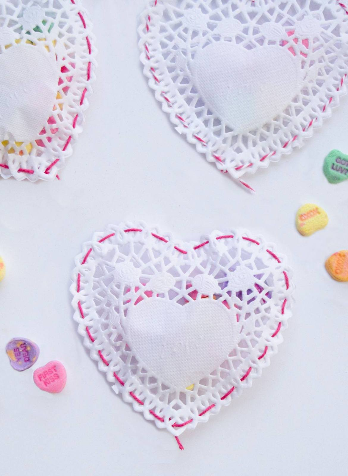 Doily Heart Pouch Tutorial by Lindi Haws of Love The Day
