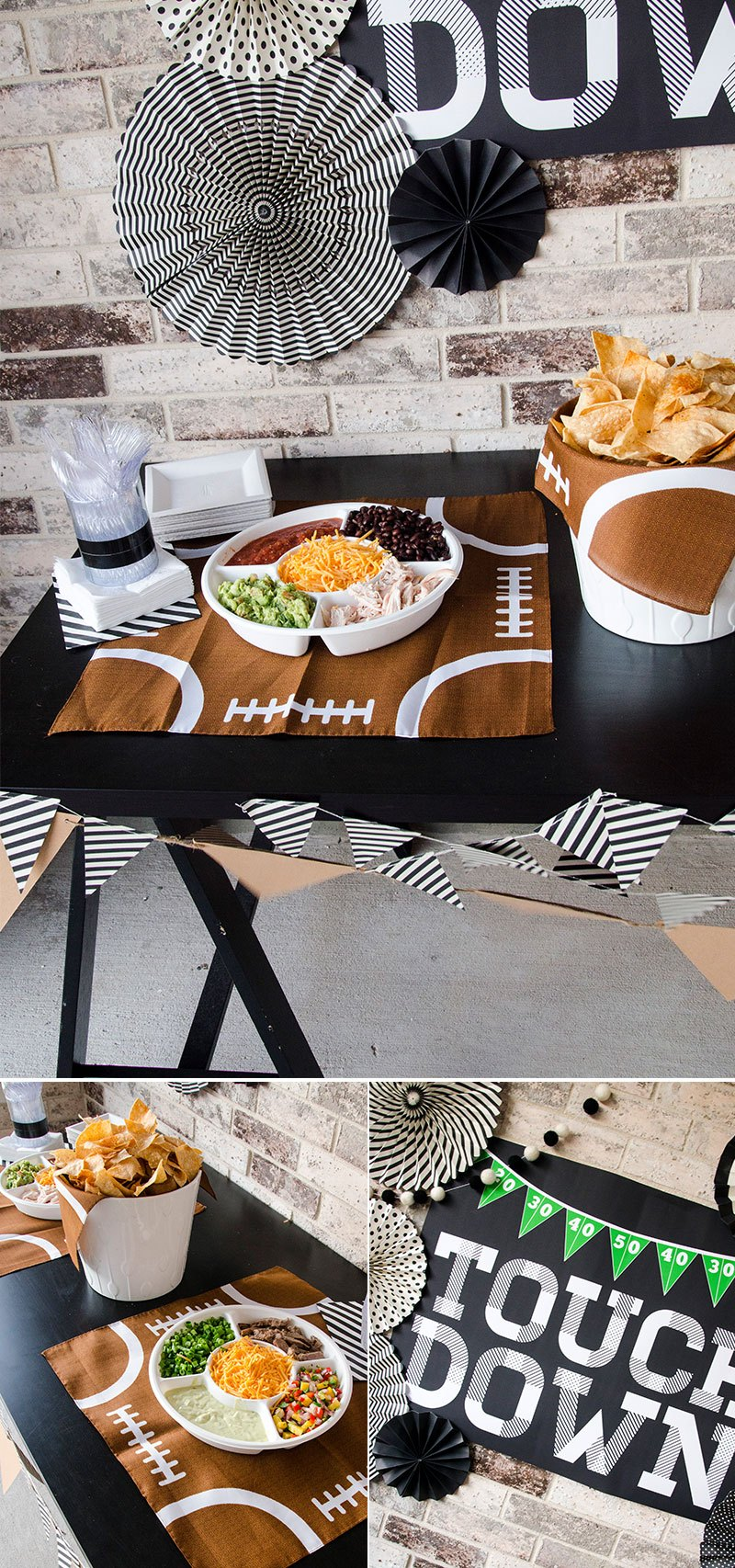 Football Game Food & Football Backdrop by Lindi Haws of Love The Day