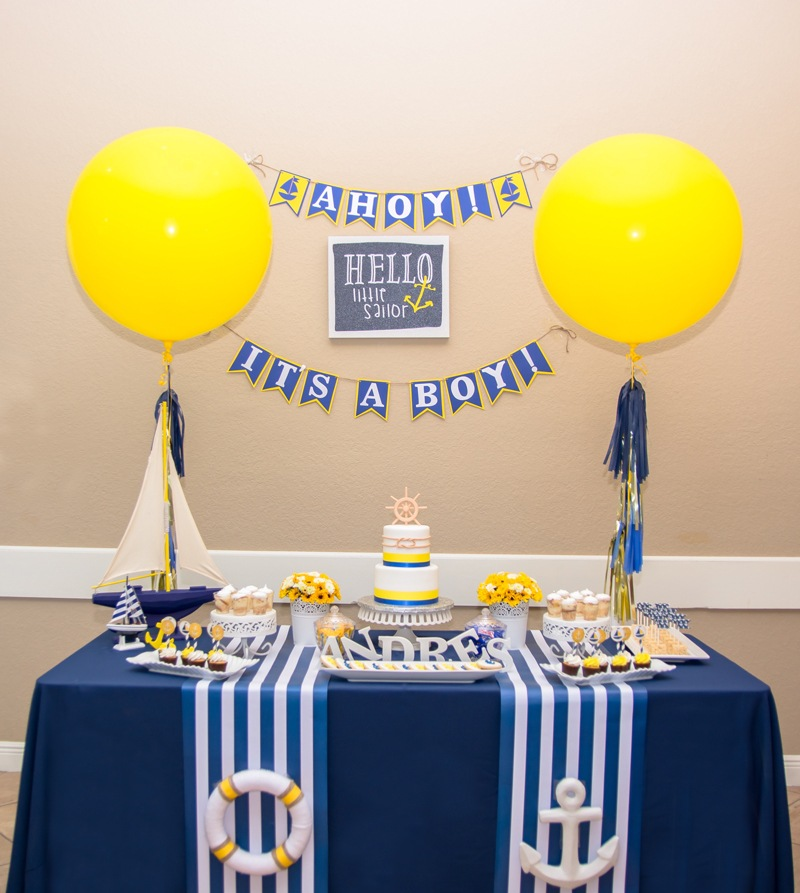 Nautical Baby Shower Theme for a Boy on Love The Day