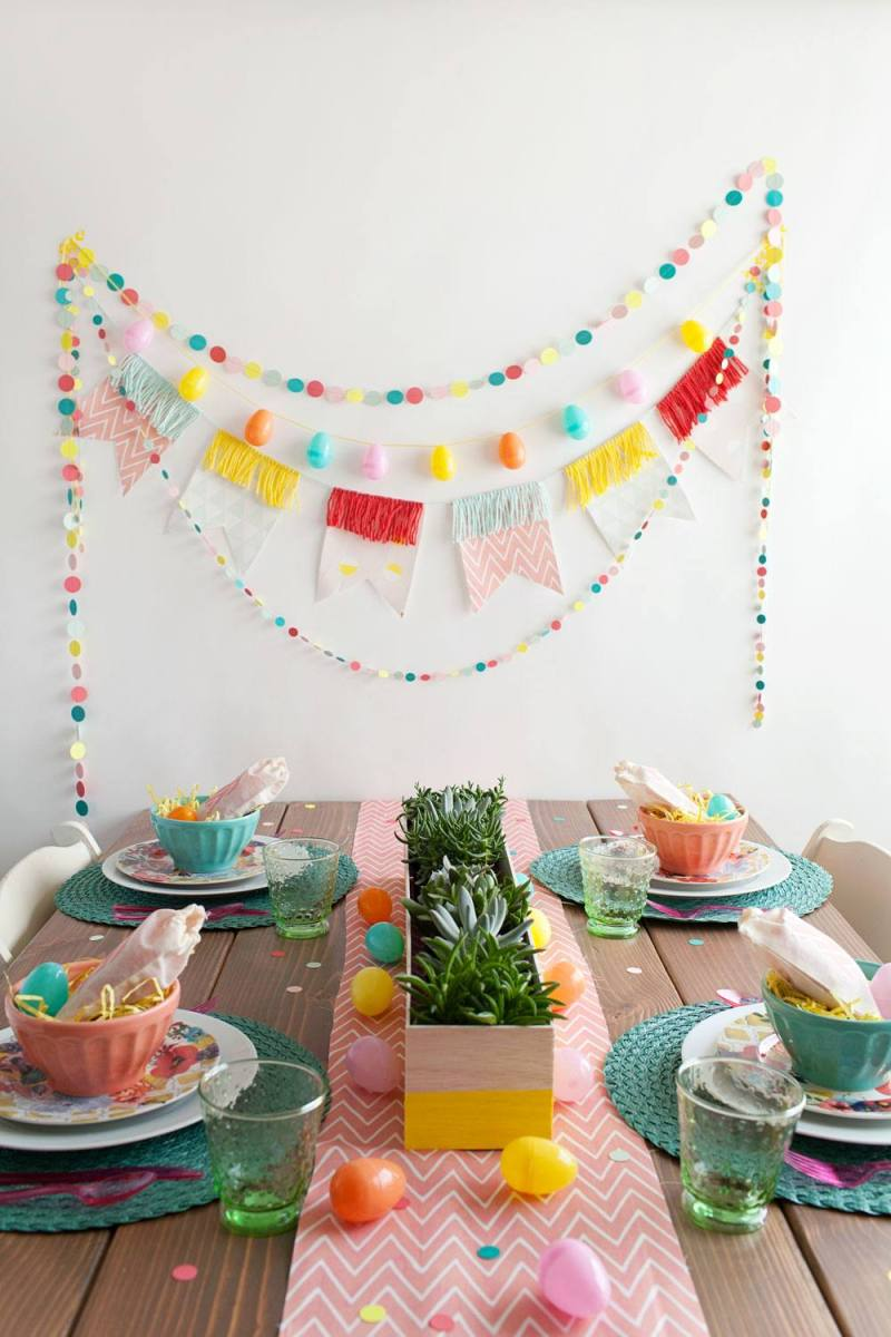 Simple and sweet diy easter party decorations on love the day for Diy easter decorations for the home