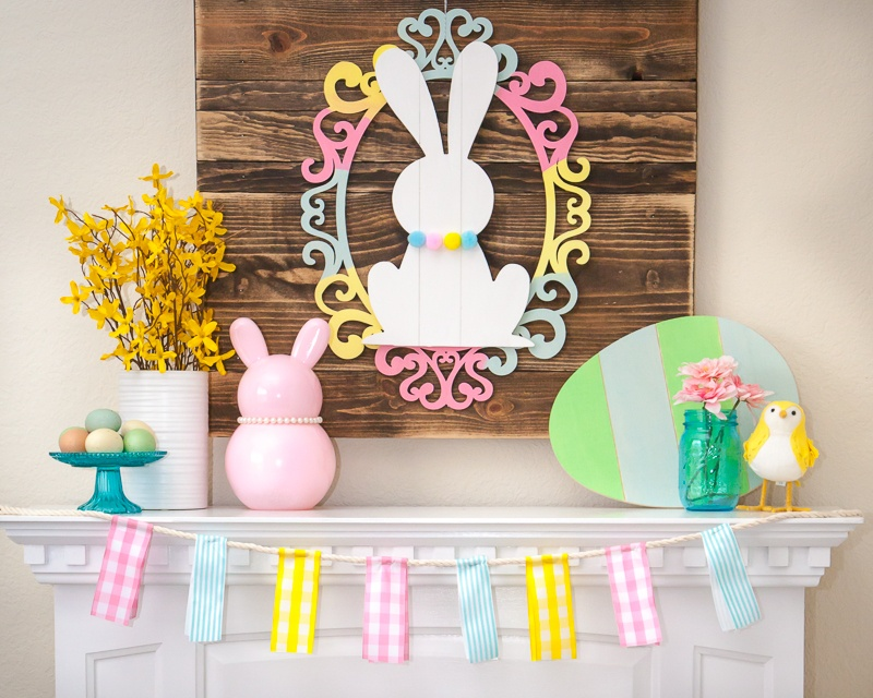 DIY Easter Mantel Decor by Destro Photography on Love the Day – Easter Mantel Decorations