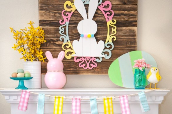 Easter Mantel Decor by Destro Photography on Love the Day