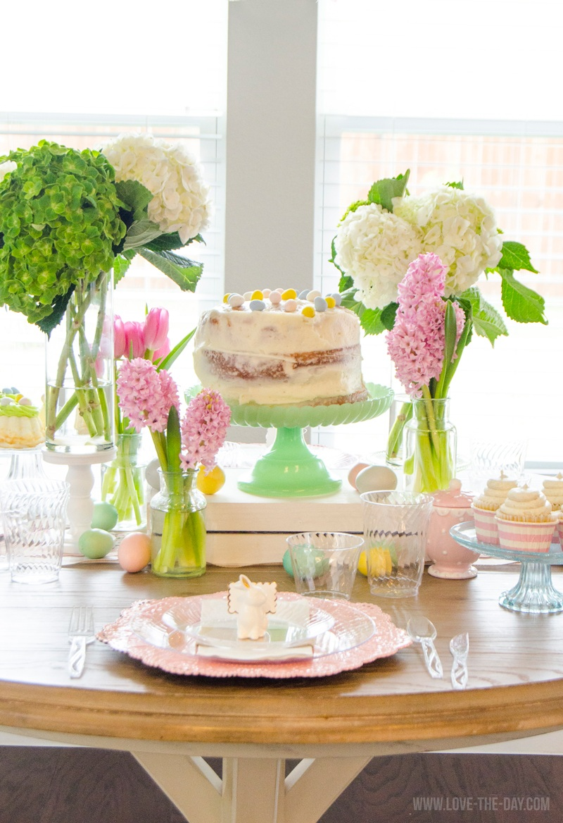Easy Easter Table Decorating Ideas by Lindi Haws of Love The Day