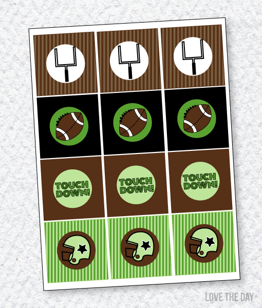 Football Party PRINTABLES:: Party Tags by Lindi Haws of Love The Day