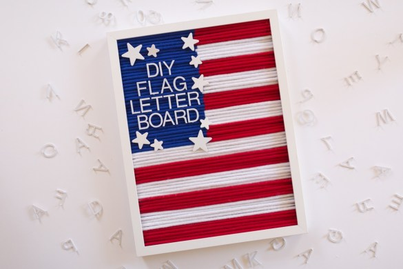 DIY Patriotic Letterboard Tutorial by Partyography on Love the Day