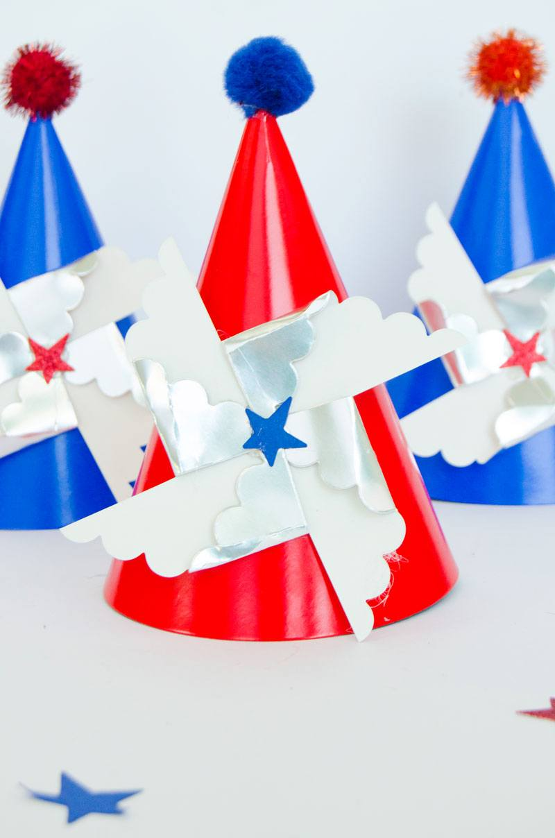 America Themed Party Ideas:: Party Hats by Lindi Haws of Love The Day