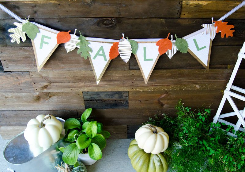 DIY Fall Banner SVG by Lindi Haws of Love The Day