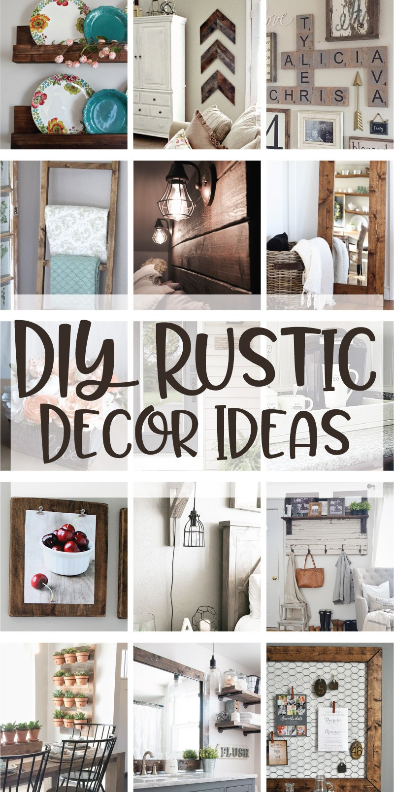 DIY Rustic Decor Ideas on Love the Day