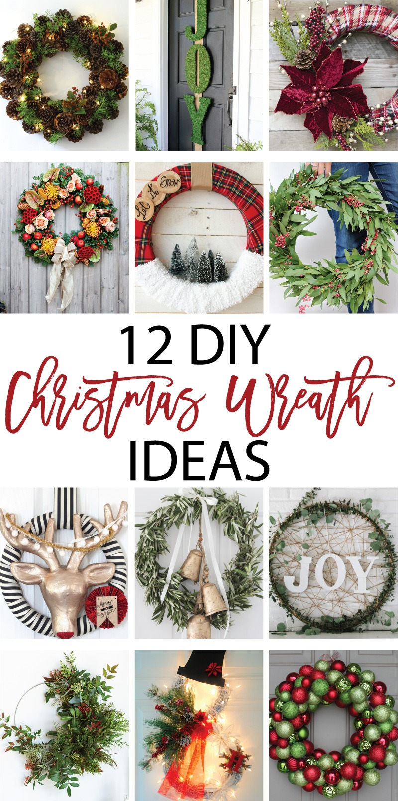 12 DIY Christmas Wreath Ideas on Love the Day