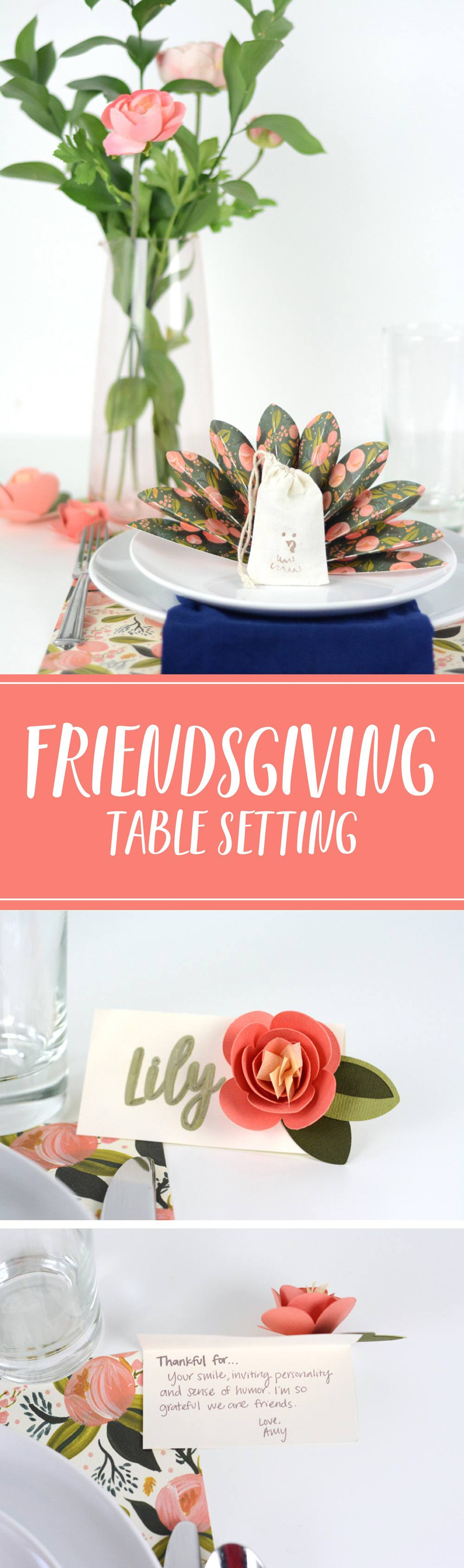 Get ready to celebrate Thanksgiving with friends and family and dress up your table with a gorgeous DIY Thanksgiving Place Setting!