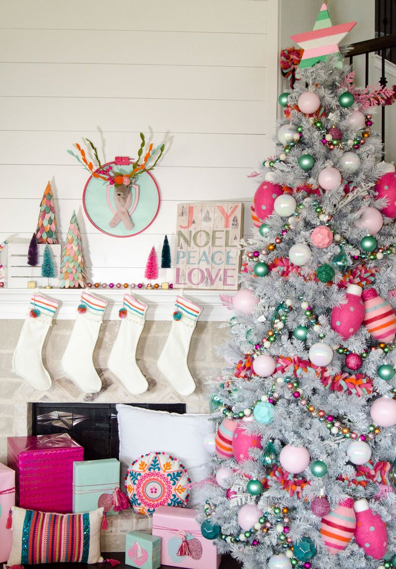 Whimsical Pink Christmas Tree - Michaels Makers Challenge by Lindi Haws of Love The Day