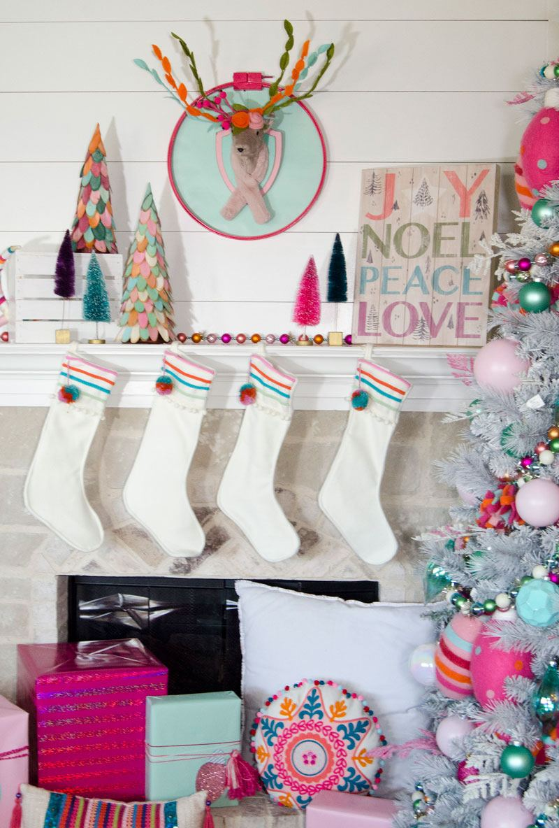 Whimsical BoHo Christmas Tree - Michaels Dream Tree Challenge 2017