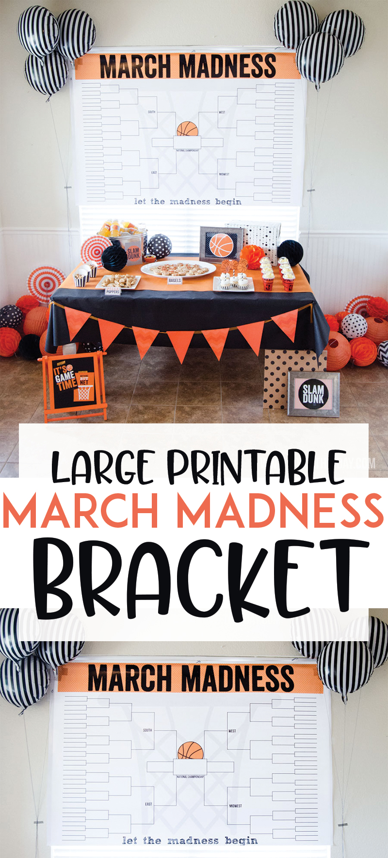 2018 March Madness Bracket Printable by Lindi Haws of Love The Day