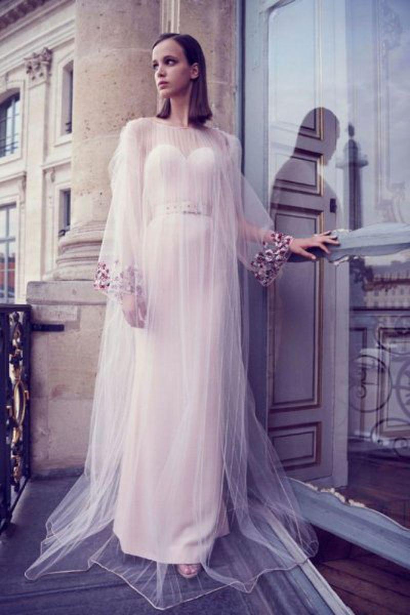 موديلات فساتين كم طويل احلى واجمل الفساتين الكم الطويل