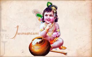 श्री कृष्ण जन्माष्टमी की हार्दिक शुभकामनाये - Shree Krishna Janmashtmi Wishes in Hindi