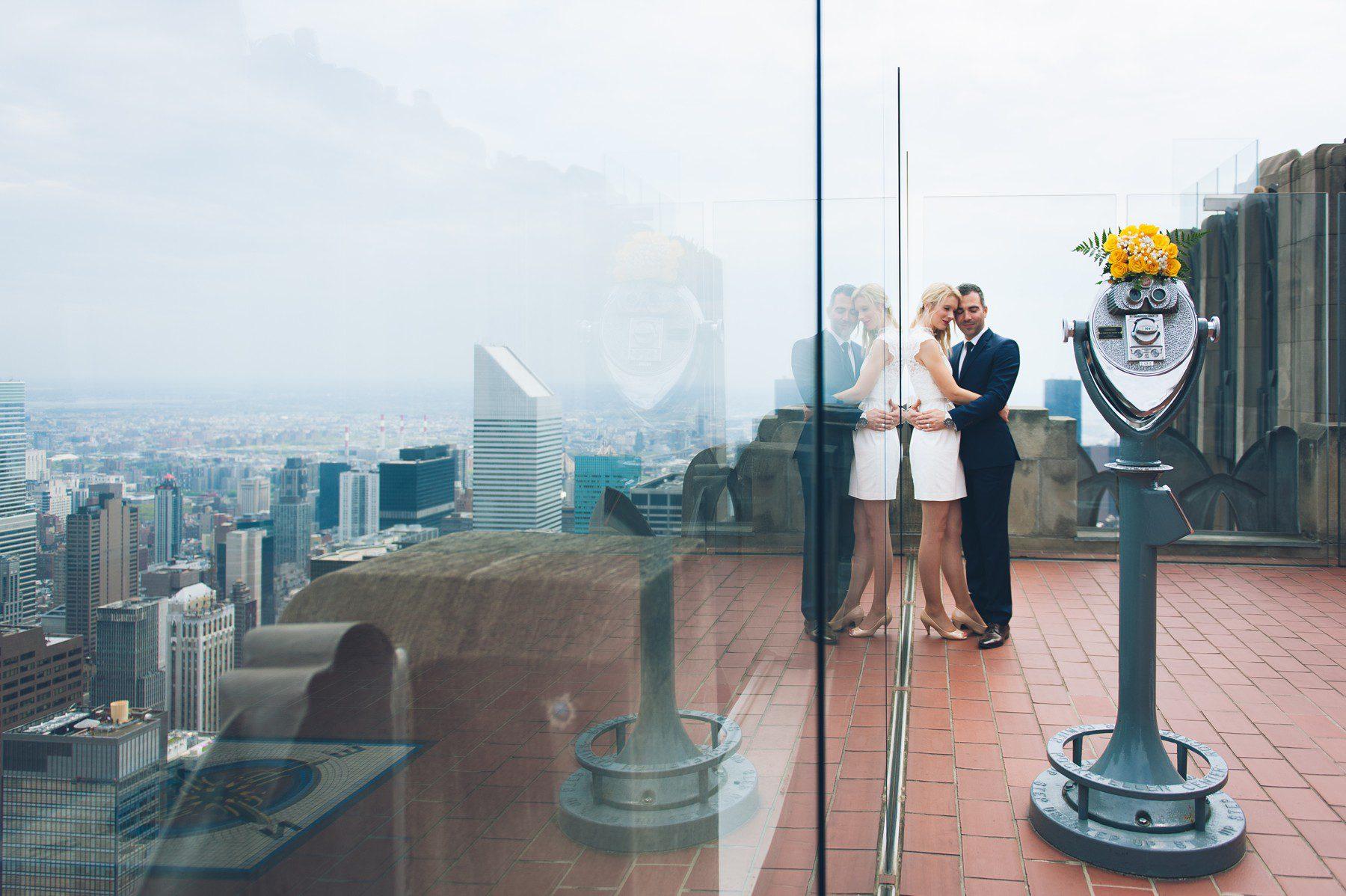 Rockefeller Center Elopement  Top of the Rock Hochzeit