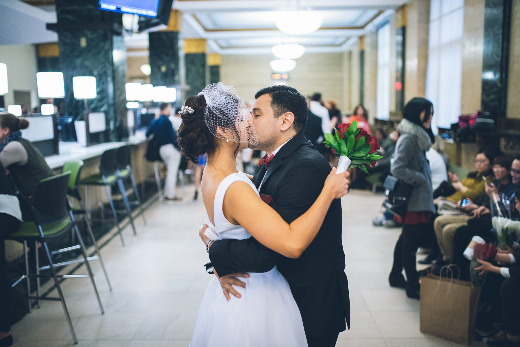 A New York Rain Wedding  NYC City Hall Elopement Photographer