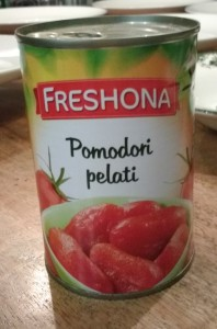 Test gepelde tomaten in blik - Blikje Freshona gepelde tomaten